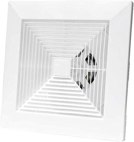 Ventilador Axial Extractor de ventilación Montado en el hogar Ventilador de extractor de ventilador de ventilador de ventilación de bajo ruido Ventilador de ventilador, 8 pulgadas para baño de cocina