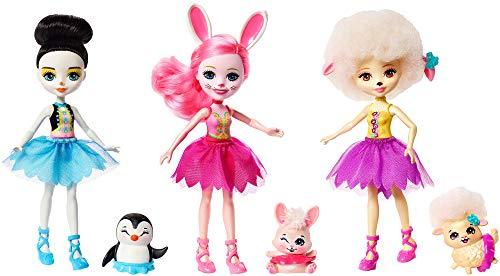 Enchantimals Pack de 3 muñecas Ballet, Color Otro, Norme (Mattel FRH55)