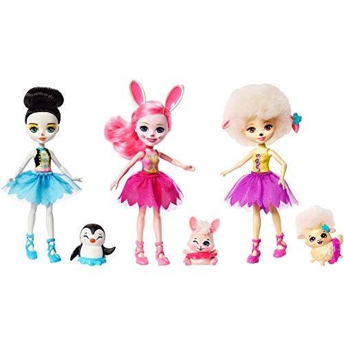 Enchantimals, Bambole Amiche Ballerine, Confezione da 3, Giocattolo per Bambini 4+ Anni, FRH55