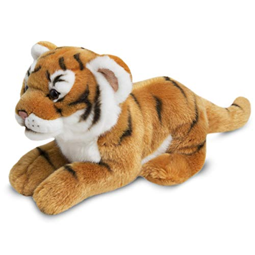 FAO Schwarz Tiger Cub Toy Plush 12 Inches, Ultra Soft and Snuggly Doll for Educational, Creative, and Imagination Play, for Boys, Girls, & Children Ages 3 and Up, Nature Theme Playroom & Nursery