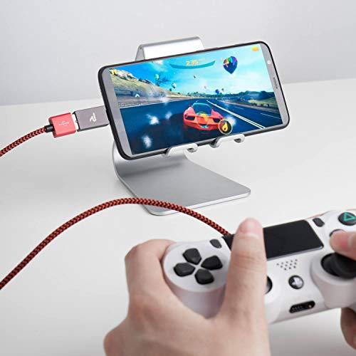 RAMPOW USB C Adapter, USB C auf USB 3.1 Gen 1, OTG C Adapter - Aluminium USB Typ C kompatibel für MacBook Pro 2016/2017, Nexus 5 X/6P, Samsung S9/S8/A5, Huawei und andere Geräte mit USB C- 2 Stücke