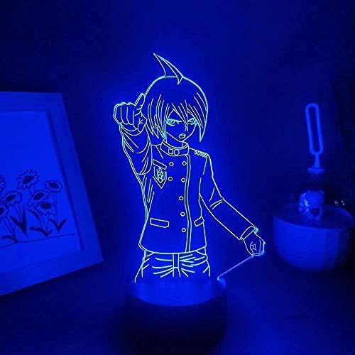 Anime ilusión lámpara Figura óptica saihara Shuichi 3D Lámparas led USB noche luz regalo cumpleaños RGB juego cabecera decoración