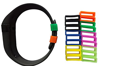 MDW 21 PCS  Silicon Fastener Secure Ring Specially for Fitbit Charge Assorted Color