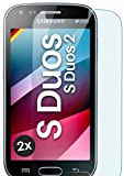 MoEx Pellicola in Vetro temperato HD Compatibile con Samsung Galaxy S Duos 2 | Pellicola Protettiva in Vetro antiproiettile AntiGraffio + Pellicola Protettiva in Vetro 9H 2X Pezzi