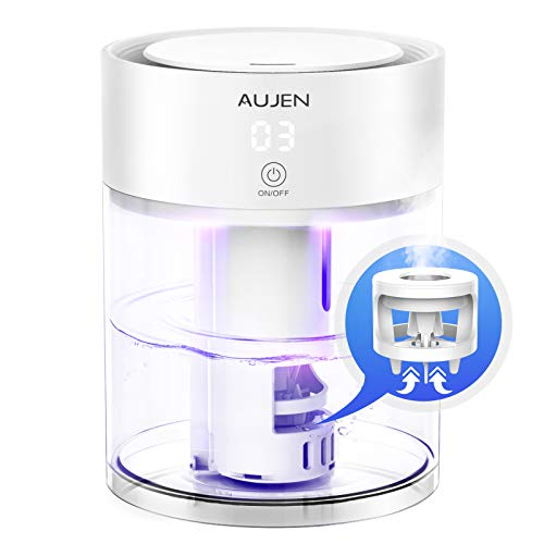 Aujen Humidifier 3L Cool Mist Humidifier for Bedroom, Ultrasonic Humidifier for Large Room, Quiet Humidifier for Babies, Air Humidifier with Adjustable Mist Level - Great Choice for Gift
