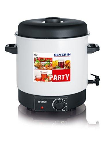 SEVERIN EA 3653 Einkoch- und Heißgetränkeautomat (1.800 W, Inhalt: 29 Liter oder 14 à 1L Rundrandgläser (100) mit Auslaufhahn)