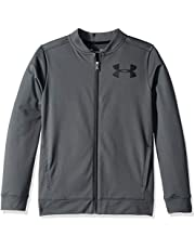Under Armour UA Pennant Jacket 2.0 Parte Superior del Calentamiento, Niños, Gris (Pitch Gray/Black 012), S