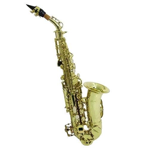 Dimavery SP-20 para saxofón Soprano Bb, para saxofón dorado