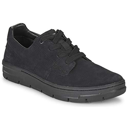 Caterpillar Rialto P724334 Leder Sneaker Freizeitschuhe Turnschuhe Schuhe Herren (P724334 Black, 44)