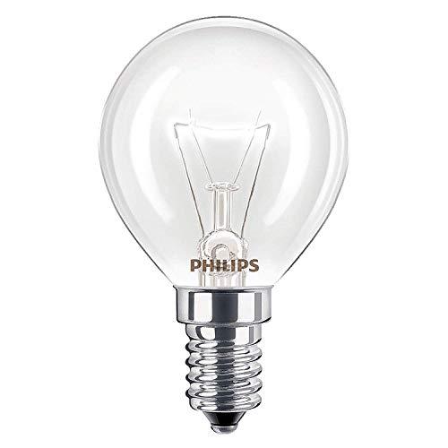 Juego de 2 bombillas para horno de 40 W, SES E14, de rosca pequeña, 300 °C, aptas para AEG, Bosch, Siemens, Neff y Hotpoint, de la marca Philips