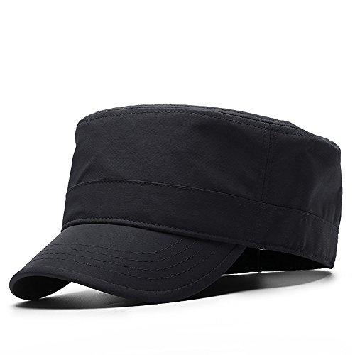 CAP HUO Große Größe Caps Baseball Hüte Sommer Sonnenschutz Outdoor Sports Freizeit Hut Reisen (Farbe : Schwarz, größe : 60-65cm)