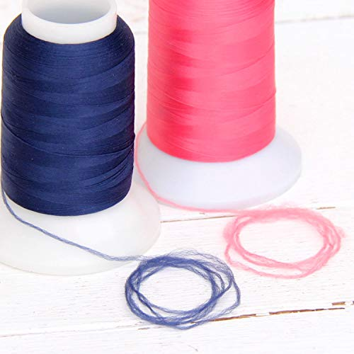 Wooly Nylon Thread by Threadart - 1000m Spools - Color 9127 - LT SKY BLUE - Serger Sewing Stretchy Thread - 50 Colors Available