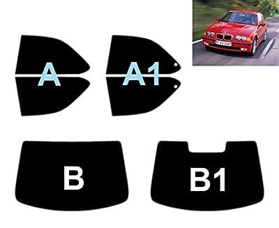 Film Solaire Prédécoupé Teinté pour-BMW 3 série E36 Compact 3-Portes 1994-2001 Vitres Arrière & Lunette