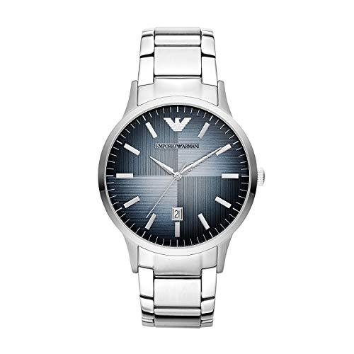 Emporio Armani Herren Analog Quarz Uhr mit Edelstahl Armband AR11182