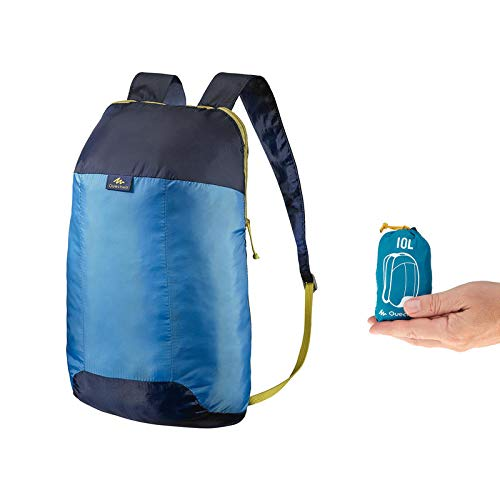 Quechua 8348927 Arpenaz 10 Ultra Compact Hiking Backpack, Junior 10Liters (Blue)