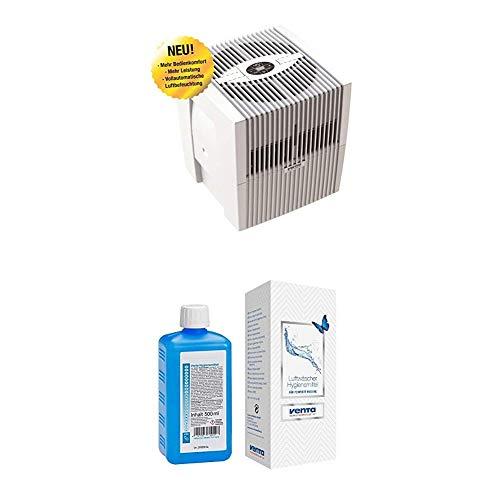 Venta Luftwäscher LW25 Comfort Plus Luftbefeuchter und Luftreiniger für Räume bis 45 qm, brillant weiß, mit digitaler Steuerung + Hygienemittel, 500 ml