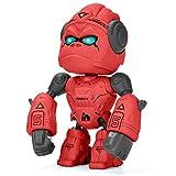 ALLCELE Legierung Gorilla Spielzeug für Kinder,interaktives Roboterspielzeug,Berührungssteuerung& LED-Augen, Geburtstagsgeschenk, Gorilla Roboterspielzeug für Jungen und Mädchen über 3 Jahre(Rot)