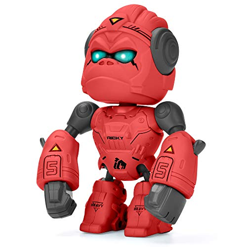 ALLCELE Alloy Gorilla Toy für Kinder, Fun Robot Toy mit interaktiver Funktion, Touch Control & LED-Augen, Geburtstagsgeschenk, Gorilla Robot Toys für Jungen und Mädchen über 3 Jahre(RED)