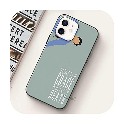 Greys - Carcasa blanda para iPhone 12 Mini 11 Pro Max Xr Xs X 7 8 Plus Se para iPhone Xsmax Silicone Phone Shell-B03-para iPhone 11