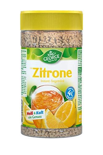 KING GEORGE - Royal Tea Time, Zitrone Instantgetränk 6 x 400 g, Heiß & Kalt ein Genuss
