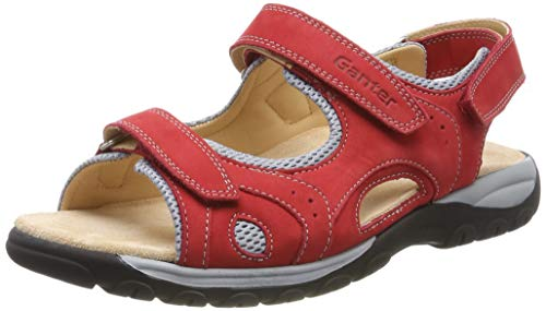 Ganter Damen Happy-H Geschlossene Sandalen, Rot (Red 40000), 38 EU