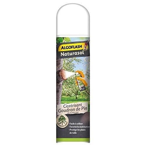 ALGOFLASH NATURASOL Aérosol Cicatrisant Goudron de pin, Contre toutes les plaies de taille, Fabriqué en France, 300 ml, GOUAERO3AN