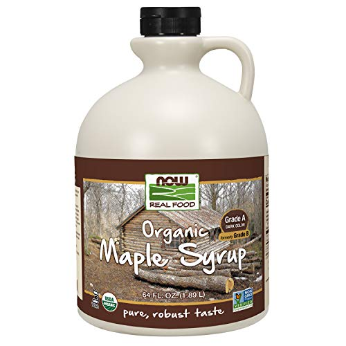 NOW Foods Certified Organic Maple Syrup Grade A Dark Color Certified NonGMO Pure Robust Taste 64Ounce