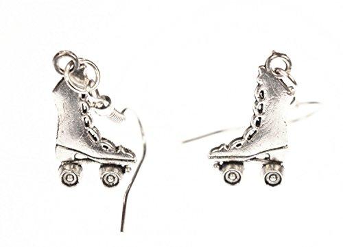 Miniblings Rollschuh Stiefel Ohrringe Hänger Rollerskates Skates hoch silber - Handmade Modeschmuck I Ohrhänger Ohrschmuck versilbert