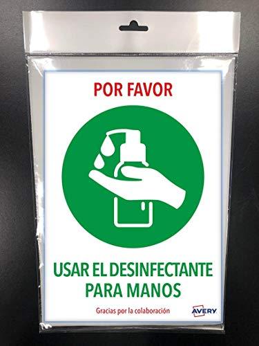 Avery España, Señales Emergencia, Advertencia USAR EL DESINFECTANTE,...