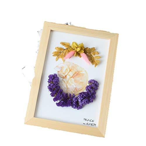 Conemmo A5 reliëf/stereo DIY fotolijst stickers bloemen klasse activiteiten handgemaakt materiaalpakket droog bloemen eeuwige bloemenmix