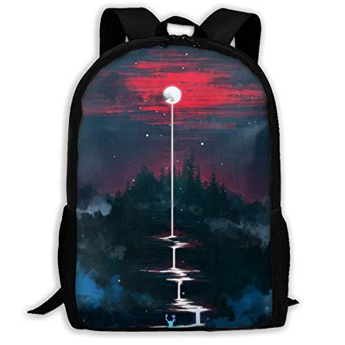 JNMJK Hochleistungs-Unisex-Rucksack für Erwachsene Lunar Dripping Bookbag Travel Bag Schultaschen Laptoptasche