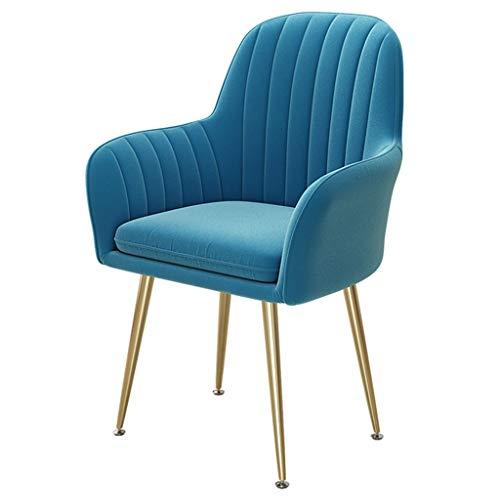 HEJINXL Eetkamerstoelen,fauteuil Zachte Rugleuning Onafhankelijke Pad Goud Fluweel Titanium Goud Roestvrij Staal Antislipvoetjes Draaibare Aanpassing Luxe Bureaustoel Stel