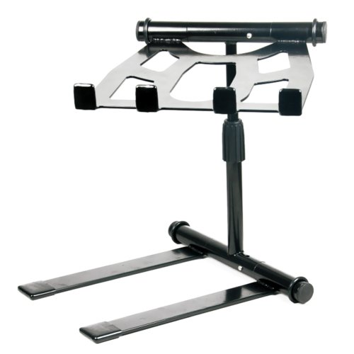 PylePro High Performance Portable, Folding Tabletop DJ Gear Stand for Laptop Mixer or Other Gear - Adjustable Angle and Height