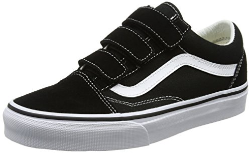 Vans Unisex Adults' Old Skool V Trainers, Black/True White(Suede/Canvas), 9.5 UK 44 EU
