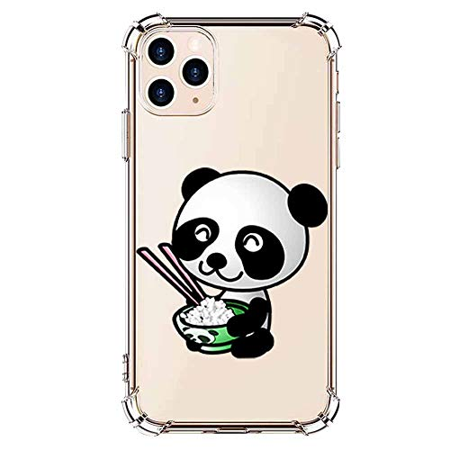 iPhone 11 pro Max Case Clear TPU Animal - Flexible Slim Clear TPU Silicone Case Cute Funny Animal Panda Cover Girl Women TPU Bumper Protector Protective Transparent Case for iPhone 11 pro Max-13