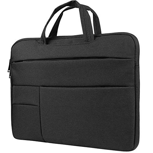 Laptop Case Hybrid Briefcase Sleeve Bag with Handles for Dell Inspiron, XPS, Latitude, Precision 15 inch, Gaming Business Work School Case for Men and Women fits up to 15.6 inch Laptops, Black