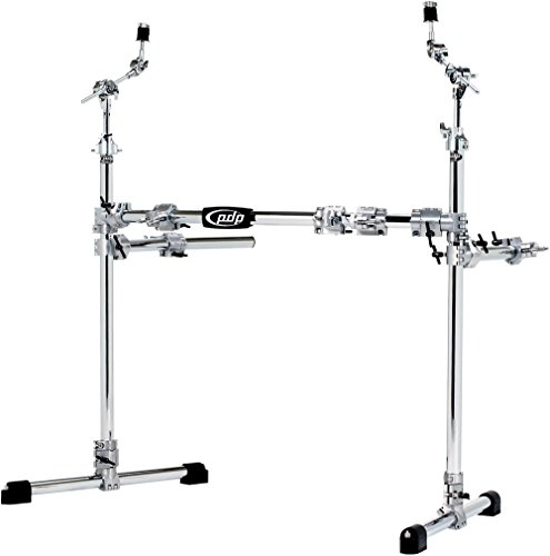 Pacific Drums by DWChrome Over Steel Main Rack with 2 Side Wings