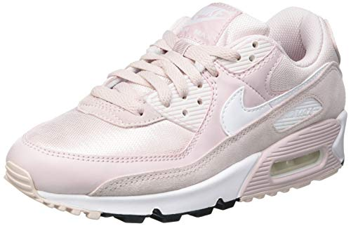 Nike W Air MAX 90, Zapatillas para Correr Mujer, Barely Rose White Black, 38.5 EU