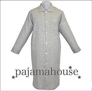 パジャマハウス トップ杢 ダブルガーゼ 無地 長袖 メンズ スリーパー カラー:グレー