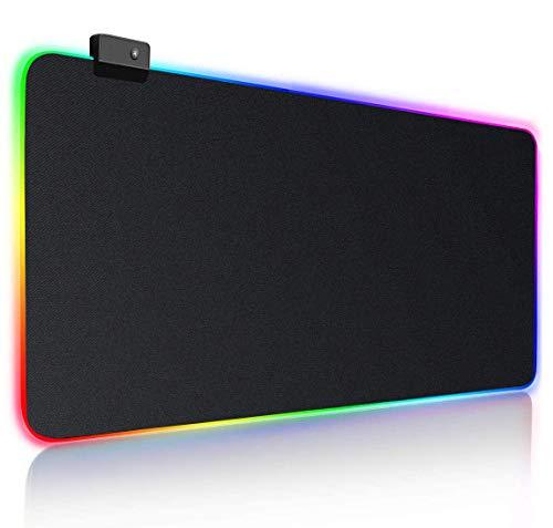 NEOTSE ゲーミングマウスパッド マウスパッド ゲーミング 大型 キーボードパッド 防水 ズレない RGB USBケーブル付属 【一年保証】