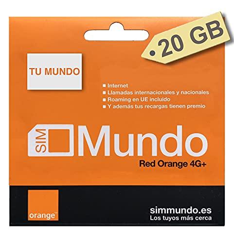 ORANGE SPAIN - Carta SIM prepagata 20 GB in Spagna, 800 minuti per chiamate in Italia, Attivazione...