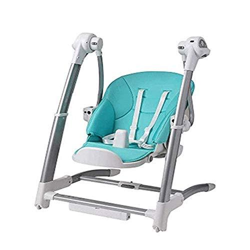 WCJ Twee in één baby Rocking Chair/eetkamerstoel, Waterdicht en anti-fouling gemakkelijk schoon te maken opvouwbare kinderstoel, Electric Comfort, Afstandsbediening Multi-Function