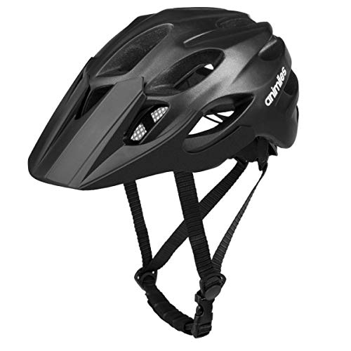 animiles Adult Bike Helmets Bicycle Helmet for Men Women Adjustable Lightweight Road Mountain Helmet with Visor and Rechargeable Rear Light (21-24 inches)
