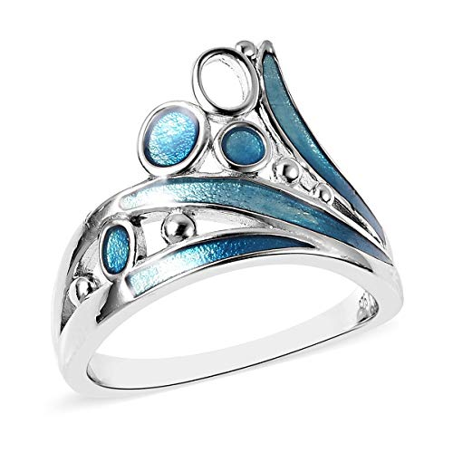 Isabella Liu Silver Designer Ring for Women Shinny 925 Sterling Stamped Perfect Gift for all Occassions Size T