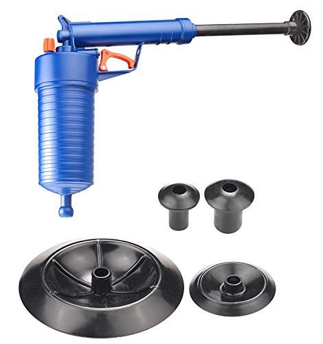 WangLx Kussen Toilet Plunger Keuken Spoelbak Reinigingsgereedschap, Gebruikt voor Keuken, Badkamer, Dredge Pipe, Riool Drain Blaster, Blauw