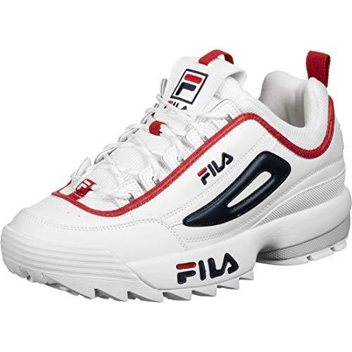 Fila Sportschuhe für Herren 1010707 92N Disruptor White Navy Schuhgröße 40 EU