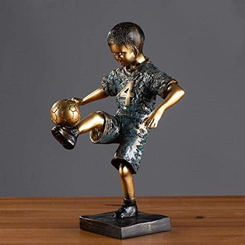 L-YINGZON Estatuas fútbol decoraciones del arte del arte de baloncesto.los deportistas adornos de escultura que viven sala de estudio en casa habitación 4 La decoración del hogar presente para los ami