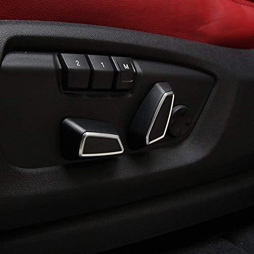 Bouton de réglage du siège en Plastique ABS Cache Garniture Accessoires pour la Voiture 1 2 3 4 Série F30 F34 F45 F46 f48 2013-2017