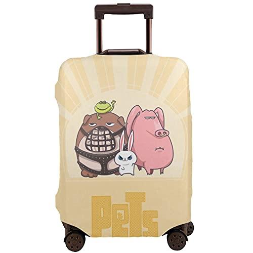 Copertura per bagagli lavabile valigia protettiva antigraffio copertura valigia Pe-Ts Pig Bu-Nny giallo adorabile adatta 45,5 cm -72 cm valigia, multicolore, 80