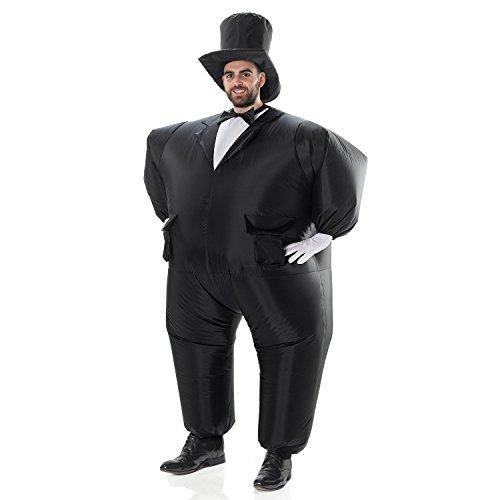 AirSuits Aufblasbares Kostüm Fesch Smoking Fett Anzug, Fasching Karneval Party Outfit